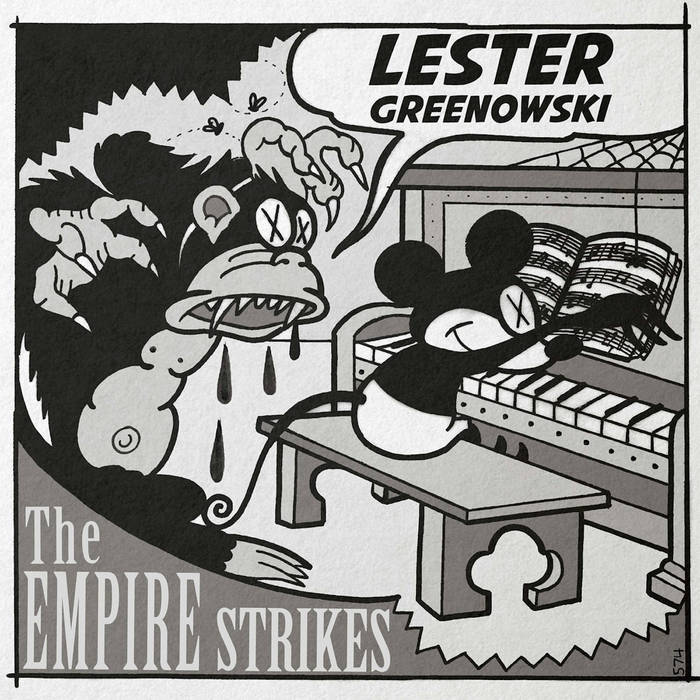"Lester Greenowski / The Empire Strikes - Split 7"" 10 - fanzine"