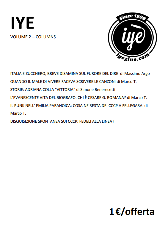 IYE - VOLUME 2 - COLUMNS 1 - fanzine