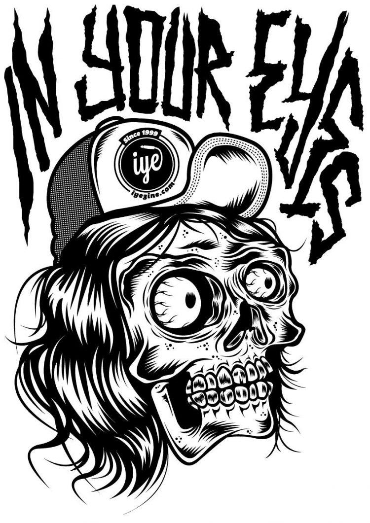 Tshirt grafica Mad Kime (Nera) 2 - fanzine