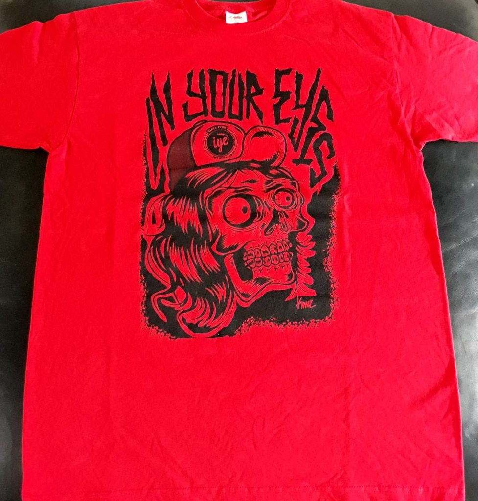 Tshirt  grafica Mad Kime (Rosso-Nera) 1 Iyezine.com