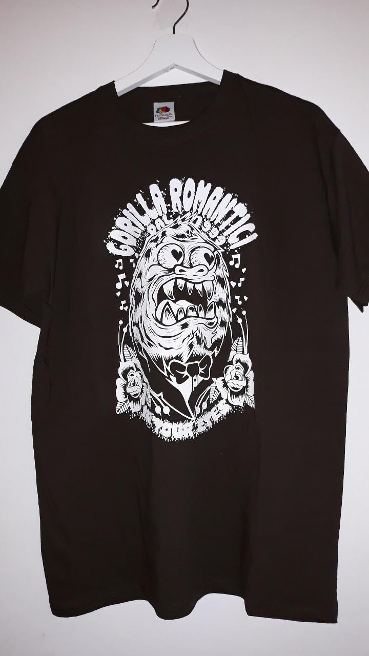 """Tshirt """"Gorilla Romantici"""" (grigia) 1 - fanzine"""