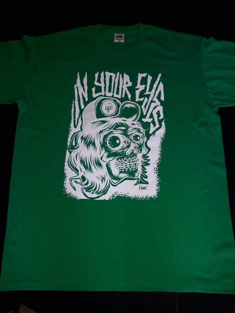 Tshirt  grafica Mad Kime (Verde-Bianca) 1 - fanzine