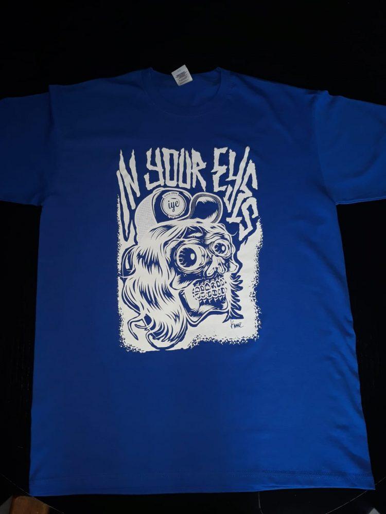 Tshirt  grafica Mad Kime (Blu-Bianca) 1 - fanzine