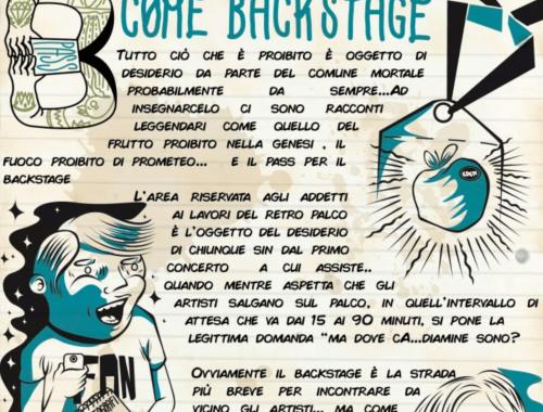 Alfabeto B come Backstage 4 - fanzine