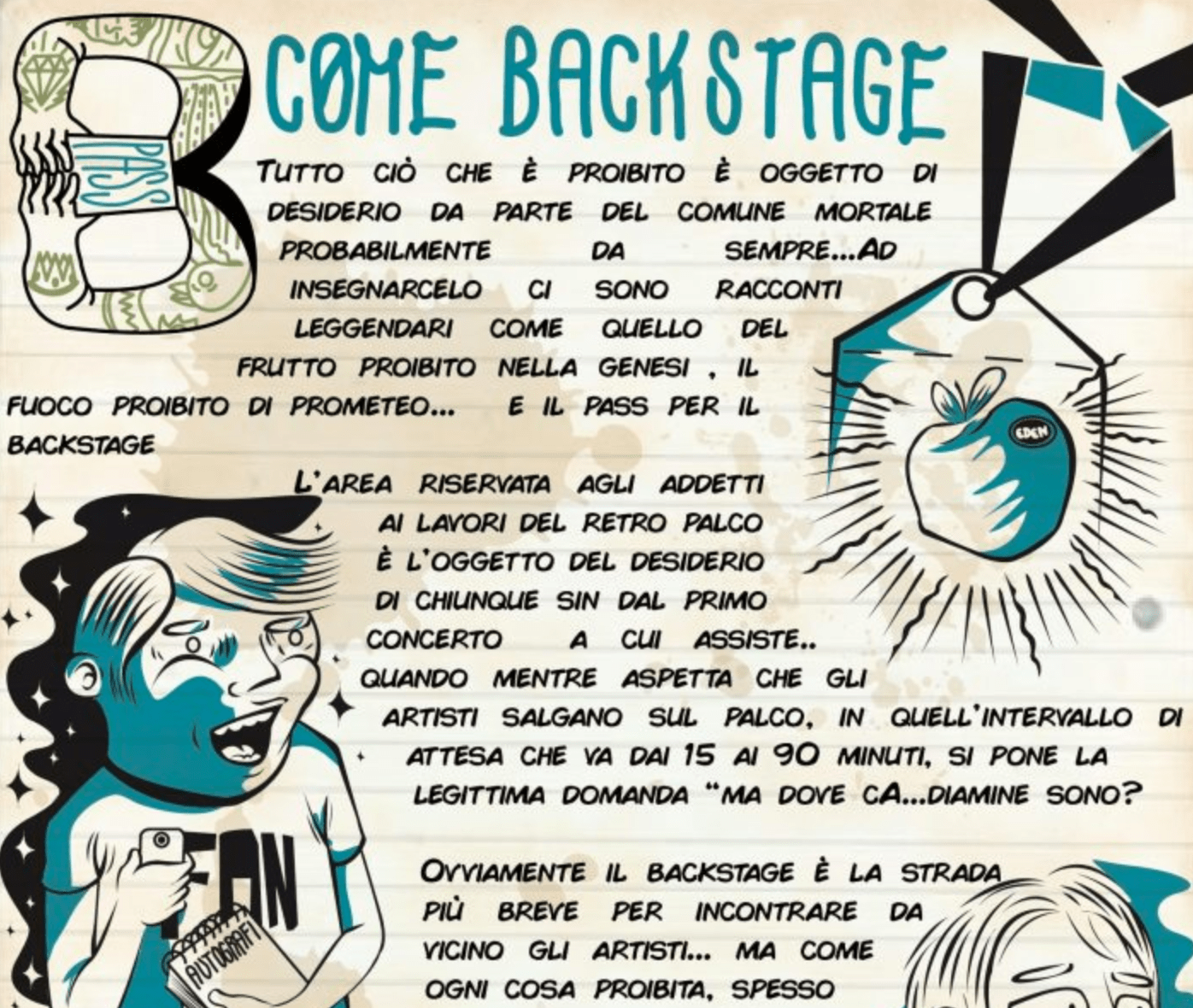 Alfabeto B come Backstage 1 - fanzine